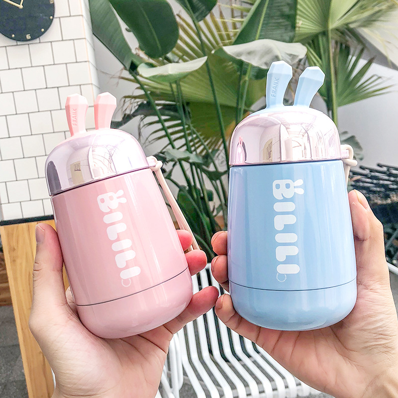 Cute Insulated Water Bottle Cantimplora Acero Inoxidable Botella De Agua De Acero Inoxidable Borraccia Termica Drinking Travel