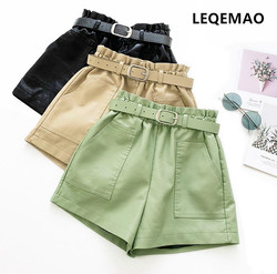 2019 Nieuwe Casual Shorts Mannen Katoen Effen Shorts Elastische Taille Mode Wit Rood Casual Shorts h6182-1-13