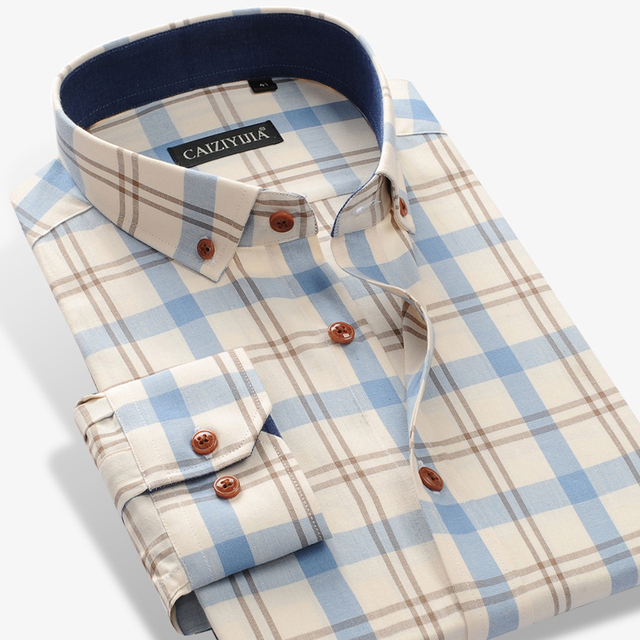 Men's Button Down Gingham Shirts