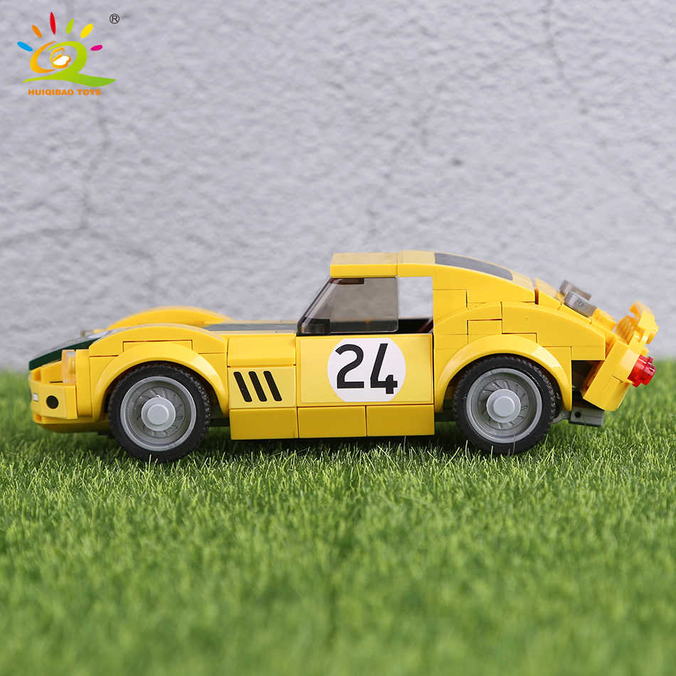 Kota Super Pembalap Model Blok Bangunan Secara Terbuka Juara Kecepatan Balap Mobil Sport Batu Bata Mainan Konstruksi untuk Anak-anak Hadiah