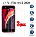 3 шт. закаленное стекло для apple iphone se 2020, защитное стекло, Защита экрана для iPhone SE 2020, ip ifone se, защитная пленка