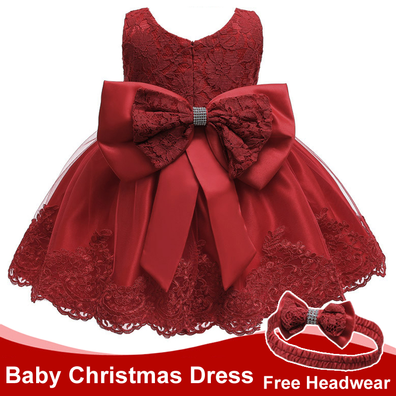 Infant Christmas Dress New Summer Newborn Baby Girls Princess Party Dresses For Baby Christening Dress 2 1st Year Birthday Dress