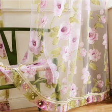 New Brand tulle Window curtains for living room bedroom kitchen Modern Floral Sheer Voile Curtains Printed Drapes Window Screen цена и фото