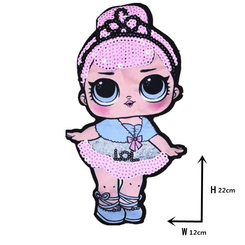 Мультяшные нашивки женские модные куклы лол для девочек Милая Модная Кукла-мальчик вышивка на одежду ручная работа украшение одежды Блестки Ткань - Цвет: WW-2
