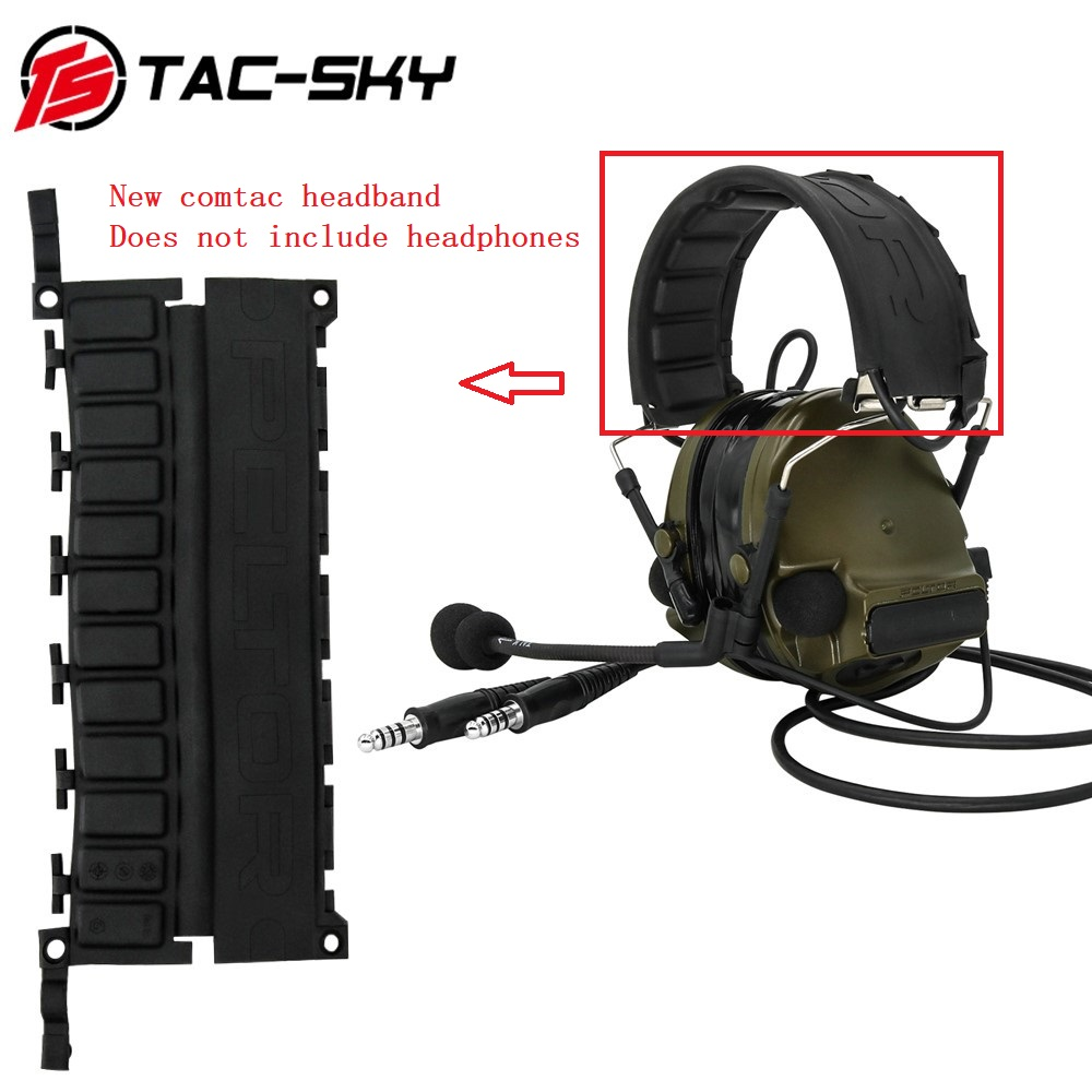 TAC-SKY New Comtac Replacement Headband Tactical Headphones Peltor Series Comtac I Ii Iii Iv Hunting Noise-cancelling Headphones