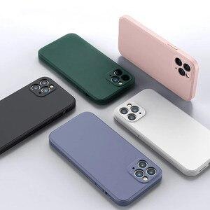 Image 5 - สำหรับ iPhone 12 Pro กรณี Luxury Original ซิลิโคนเหลวสำหรับ iPhone 11 Pro X XR XS Max 7 8 Plus กรณีโทรศัพท์กันกระแทก