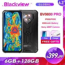 Blackview BV9800 Pro Thermische Imaging IP68 Wasserdichte Smartphone 6GB + 128GB 48MP Hinten Kamera Helio P70 Android 9,0 handy