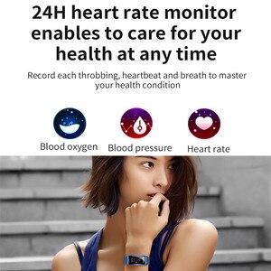 Image 3 - Smartwatch Neue F28 Smart Weiblichen Uhr Frauen Damen Ip67 Herz Rate Blutdruck Sauerstoff Verbunden