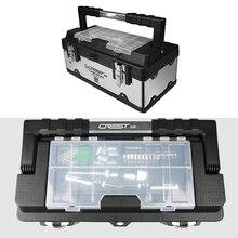 1 шт. 17 дюймов ящик для хранения инструментов портативное оборудование из нержавеющей стали ящик для инструментов многофункциональный чехол для ремонта автомобиля контейнер