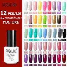 ROSALIND Conjunto de 12 unidades de esmaltes de uñas de Gel, Kit de extensiones de uñas, Gel para decoración de uñas, laca UV LED, diseño de lámpara acrílica para manicura