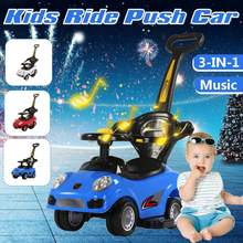 3 in 1 Multifunction Baby Music Walker Children Ride on Toy Car Balance Car Four Whell Push Trolley Kids Toys Car 1-7 years Old