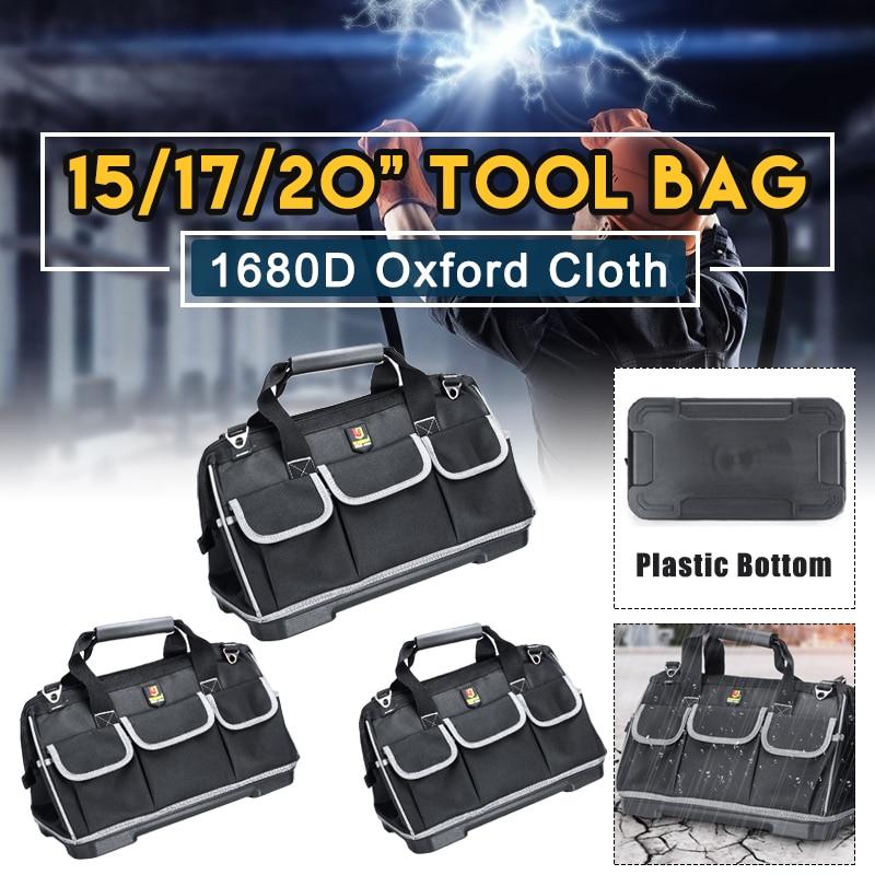 Multifunction Repair Tool Bag Oxford Cloth Waterproof Base Tool Storage Bags Shoulder Bag Handbag 15/17/20 Inch