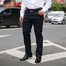 Homens calças caqui 2020 verão dos homens calças casuais alta estiramento elástico bolso distintivo masculino preto vermelho azul plus size 44 46