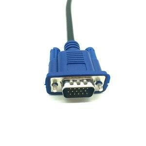 Image 3 - 30cm 50cm VGA kablosu erkek kadın örgülü koruyucu yüksek Premium HDTV VGA bilgisayar tv ekran sinyal kısa M /F uzatma kablosu