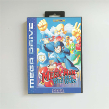 Mega Man tarjeta de juego MD de 16 bits con caja de distribución