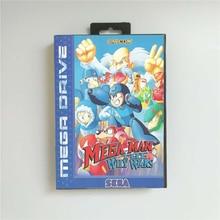 Mega Mann Die Schlaue Wars   EUR Abdeckung Mit Einzelhandel Box 16 Bit MD Spiel Karte für Sega Megadrive Genesis video Spiel Konsole