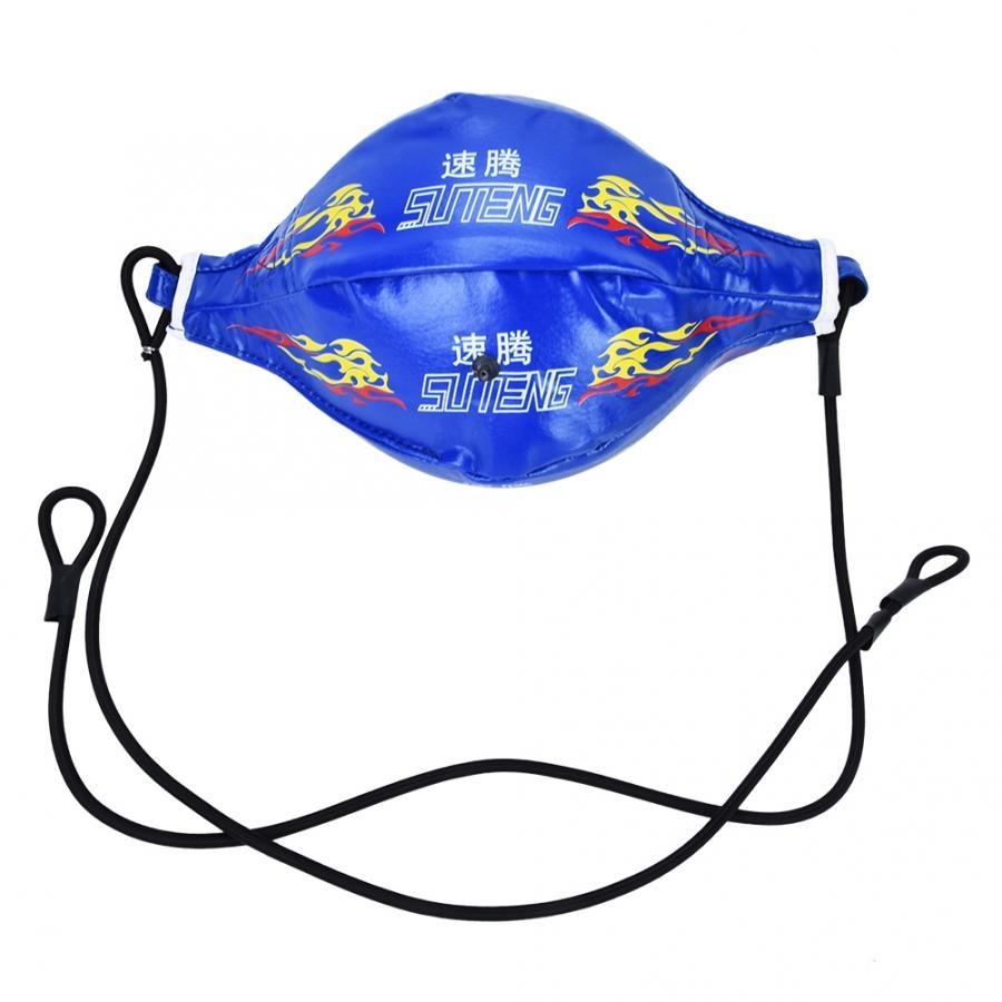 Мяч на резинке для боксирования надувной боксерский Пробивной мяч Kickboxing эластичный мяч для фитнеса спортивные упражнения аксессуары - Цвет: Синий