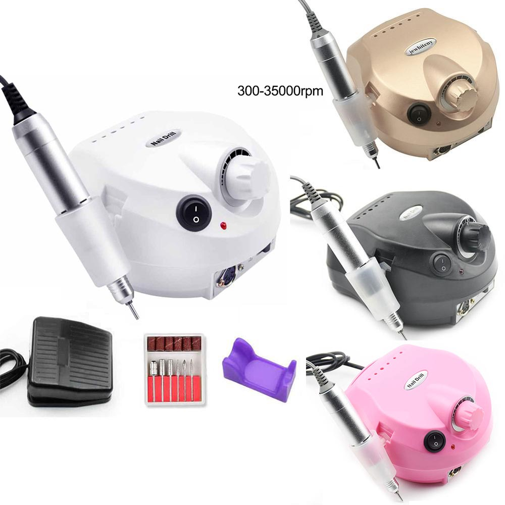 35000RPM Electric Nail Drill Manicure Machine Apparatus For Manicure Pedicure Nail File Tools Drill Polish Bits Tools Kits