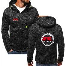 New Men's for suzuki Fleece Zipper Hiking Hooded Jacket Outdoor Cardigan Hoodies