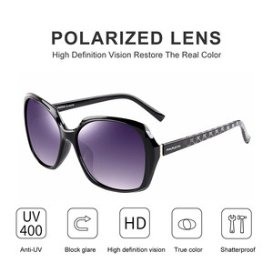 Image 2 - PARZIN Brand Designer Big Frame Sunglasses Shades For Women Fashion Oval Frame Real Quality Female Polarized Sunglasses