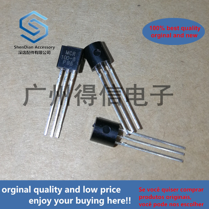 50pcs 100% Orginal New MCR100-8 100-8  Copper Pin Large Chip Unidirectional SCR T0-92 Real Photo