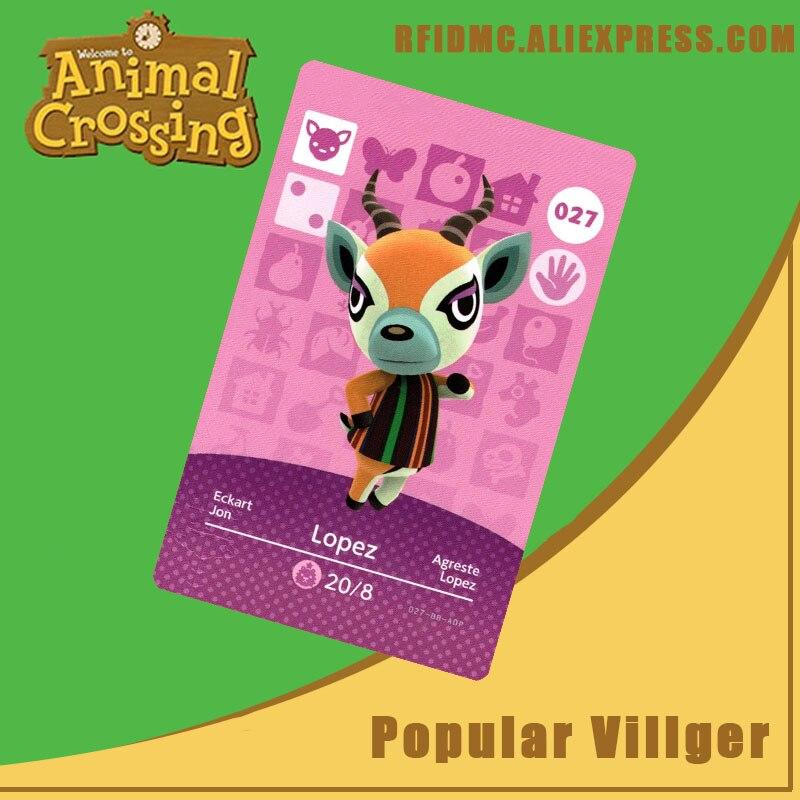 027 Lopez Animal Crossing Card Amiibo For New Horizons