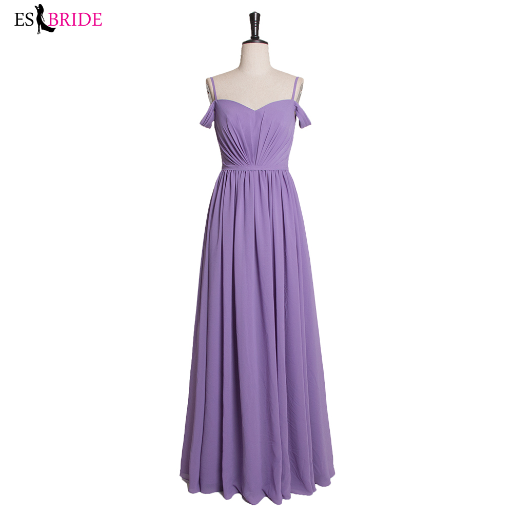 Bridesmaid Dresses Double V Purple Elegant Long Formal Wedding Bridesmaid Dresses For 2019 Vestido Dresses