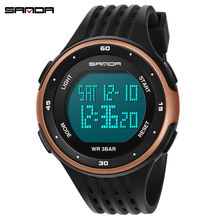 SANDA Luxury Top Brand Mens Sports Watches Waterproof Digital LED Military Watch Men Boy Fashion Casual Electronics Wristwatches