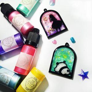 Image 4 - 24 Pcs 10ML Pha Lê Nhựa Dính Sắc Tố Nhựa Chống UV Tô Màu Nhuộm Thủ Công Tự Làm Trang Sức Làm Nghệ Thuật Thủ Công Chất Lỏng Chất Tạo Màu trang Sức Giọt