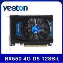 Yeston RX 550 RX550 4G D5 Grafikkarte Radeon Chill PC computer Video Karte 4GB GDDR5 128Bit 6000MHz DP 1,4 HDR + HD 2,0 b + DVI-D + DP