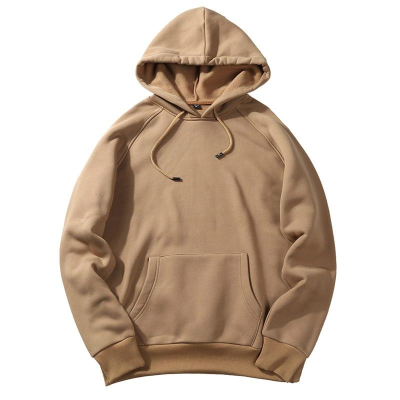 Autumn Fashion Hoodies Male Sweatshirts 2019 Warm Fleece Coat Hooded Men Brand Pullover Hoodies Sweatshirts EU Size S-2XL