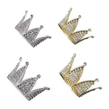 Baby Hexagon Luxury Rhinestone Crown Mini Tiara Wedding Hair Accessories Princess Girls Birthday Party Headband Decor недорого