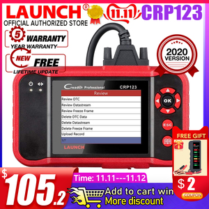 Image 1 - Launch X431 CRP123 CRP123E OBD2 Auto Scanner Support ABS/SRS/GearBox/Engine System CRP 123 OBD 2 Diagnostic Tool Update free