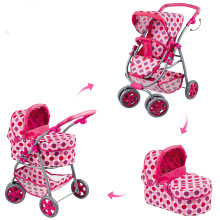 3 in 1 Stroller Set Twin Childrens Pretend Play Simulation Baby Doll Toy Birthday Christmas Gifts Brinquedos