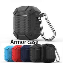 For AirPods case luxury shockproof armor silicon Case For iPhone XR 7 8  6s Earphone Case fundas For Air Pods 2 Headset cover цена и фото