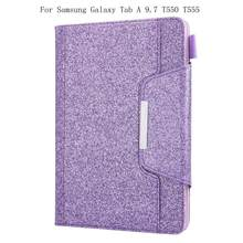 Wallet Function Case For Samsung Galaxy Tab A 9.7 T550 T555 Tablet Stand PU Leather Magnet Smart Cover Auto Sleep/Wake+gifts(China)