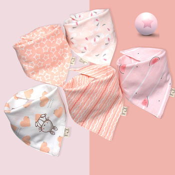 5pcs Baby Saliva Towel Cotton Bib Baby Triangle Scarf Super Soft Summer Thin super thin soft 100