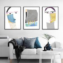 Простая линия рисунок абстрактные плакаты настенные художественные