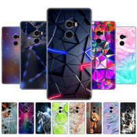 soft silicon TPU case for xiaomi Mix 2 case for xiaomi Mi Mix 2 Mix2 back cover protective printing transparent coque