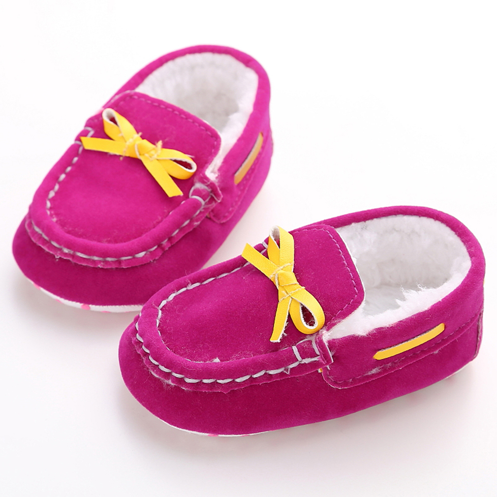 New Fashion 8 Colors Baby Kids Cute Autumn Winter Soft Bottom Toddler Shoes Anti Slipping Walk Sneaker Boots First Walker