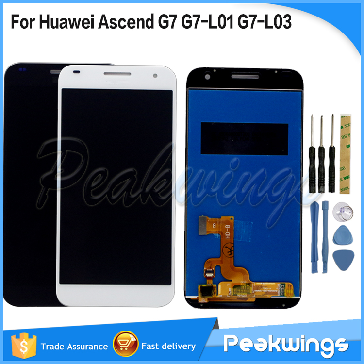 100% Tested LCD For Huawei Ascend G7 LCD Display With Touch Screen Assembly For Huawei Ascend G7 LCD Display