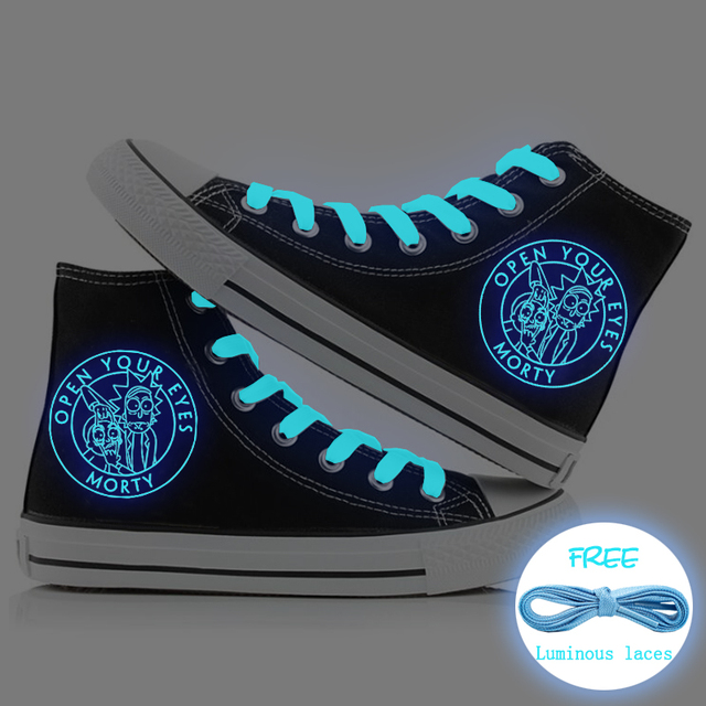 RICK AND MORTY HIGH TOP SHOES (10 VARIAN)