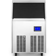 VEVOR 110V коммерческий льдогенератор 88LBS/24H с водяной насос 33LBS из нержавеющей стали Коммерческая Машина льда 4x8 лоток для льда