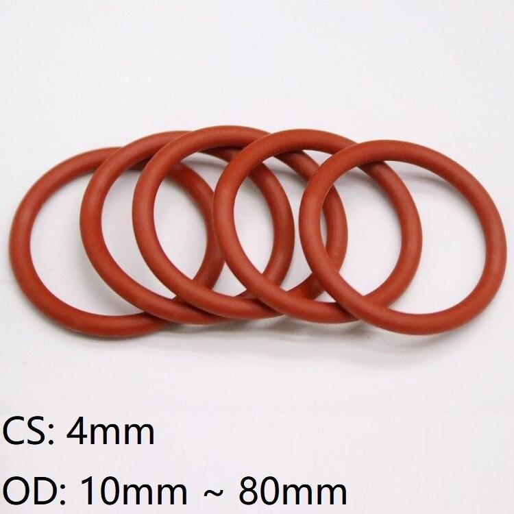 Querschnitt 4mm O-Ringe Dichtring Dichtungsring Food Grade Weiß Silikon Gummi
