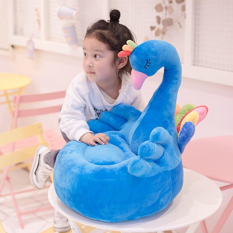 Tapis de jeu pour bébé chaise de cygne en peluche pour bébé apprendre à s'asseoir chaise de bébé tapis de jeu d'orignal canapé cadeau pour enfants - 6