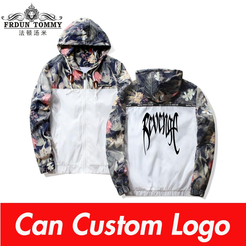 TJ 2019 NEW XXXTENTACION Men Hip Hop Hooded Jackets Windbreaker Men Jackets Coats Hoodies Zipper Lightweight Jackets Bomber