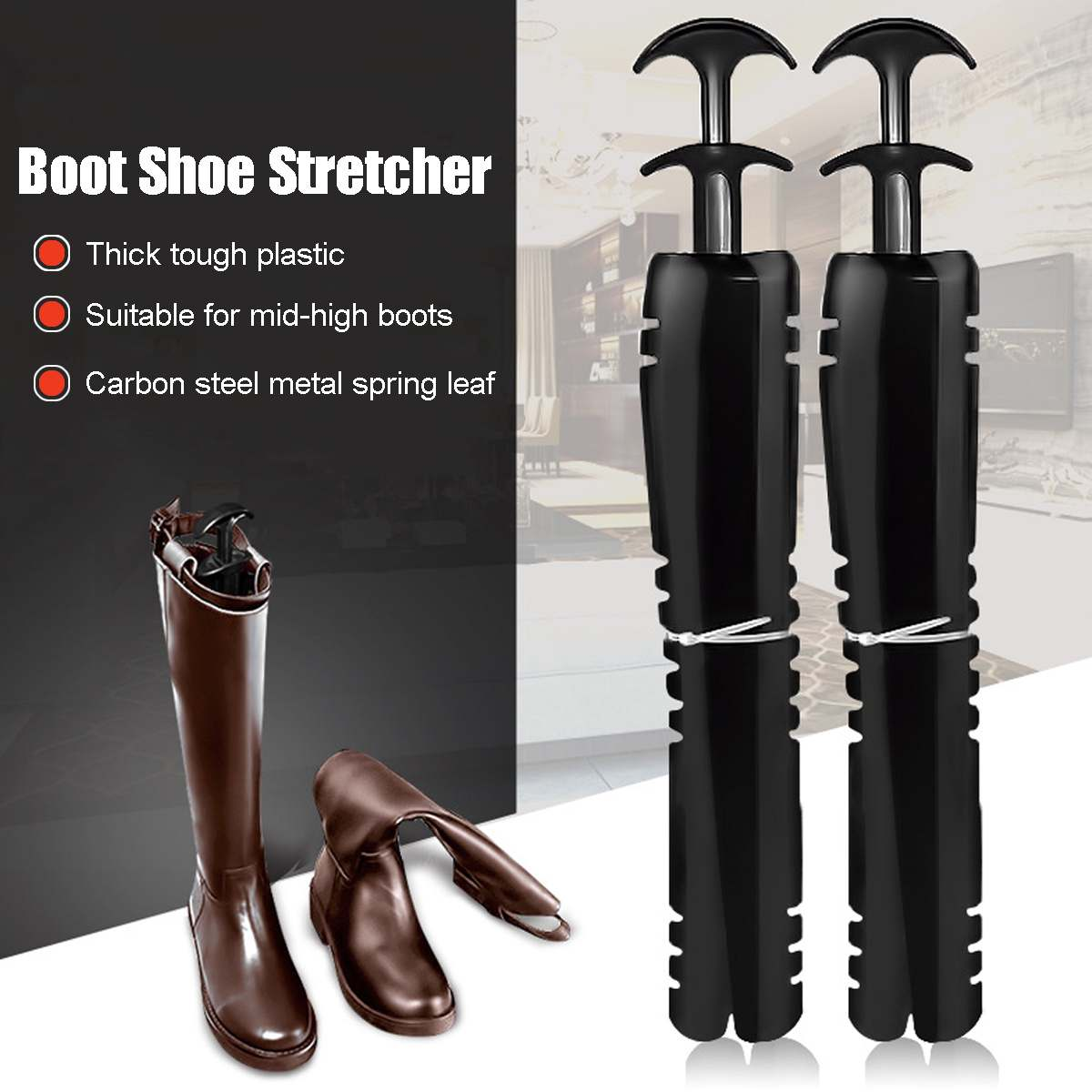 16 Inch 41cm Boot Shoe Stretcher Tree Shaper Supporter Organizer Storage Hanger Shoe Shaper Boots 1 Pair With Handle