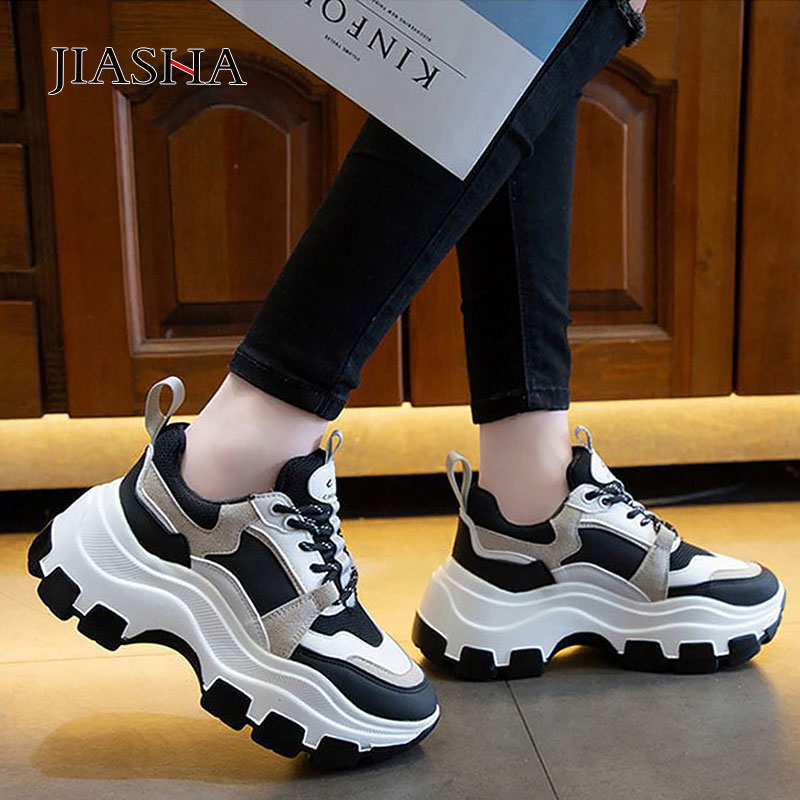 Sneakers Women Shoes 2020 Fashion Spring Lace-up Round Toe Women Sneakers Non-slip Casual Platform Shoes White Sport Shoes Woman