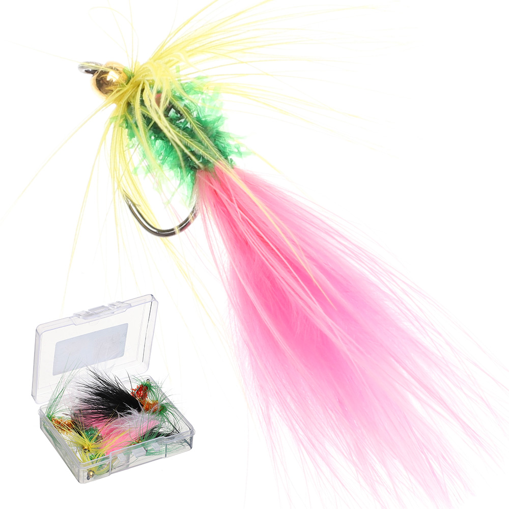 DONQL Insect Fishing Lure With Sharp Single Hook Woolly Artificial Bait Crankbaits Fishing Fly For Fishing Accessories
