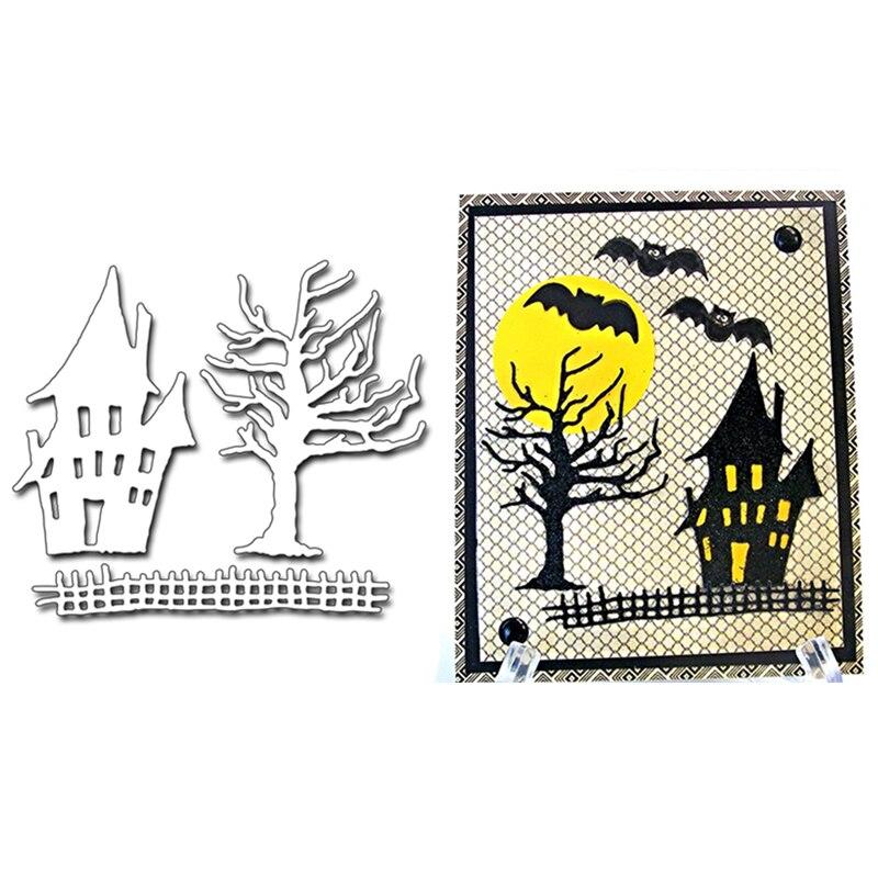 Halloween Haunted House Tree  Metal Cutting Dies Stencils For DIY Scrapbooking/Photo Album Decorative Embossing DIY Paper Cards